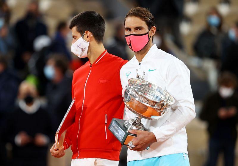 Novak Djokovic dan Rafael Nadal di Roland Garros 2020