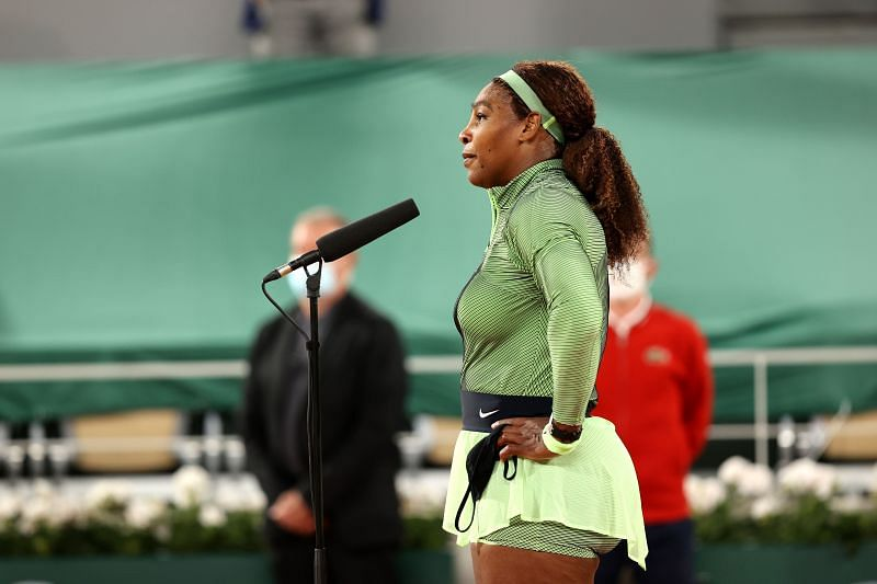 Serena Williams after her win