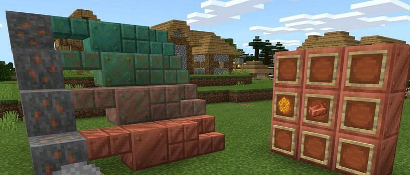 Медные блоки (Изображение из Minecraft)