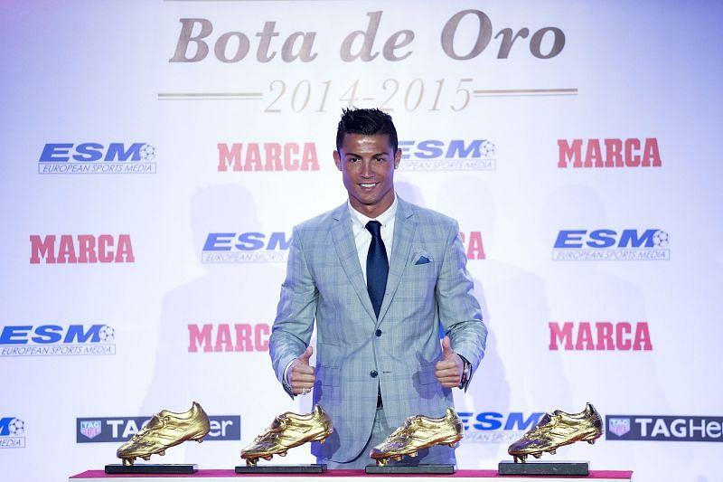 Cristiano Ronaldo Receives His Fourth Golden Boot Award
