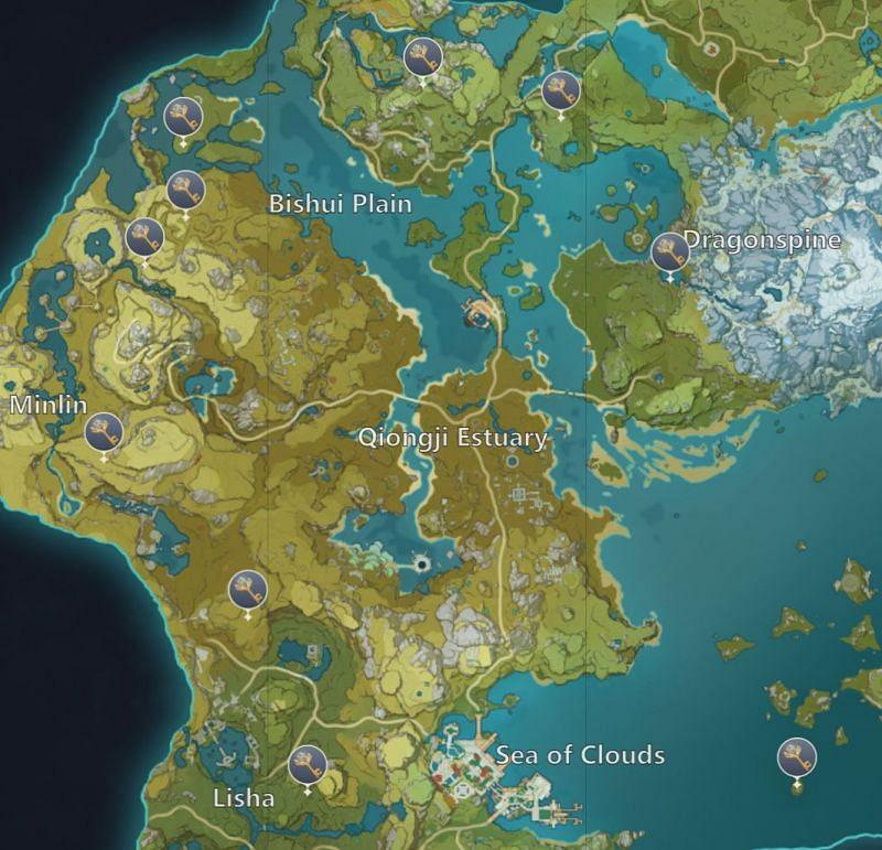 Genshin Impact map: Liyue Shrines of Depths (image via miHoYo)