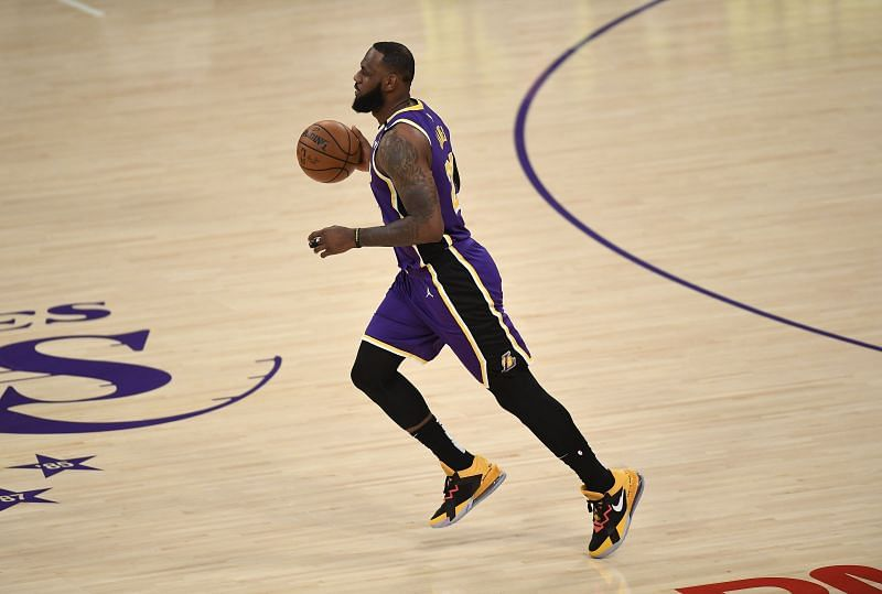 LeBron James #23 of the LA Lakers.