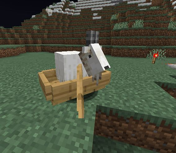 A goat in a boat (Image via u/UhLinko on Reddit)