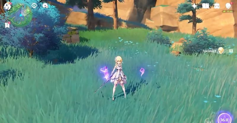 Genshin Impact leaks show Electro Traveler's gameplay and combat animations (image via abc64)