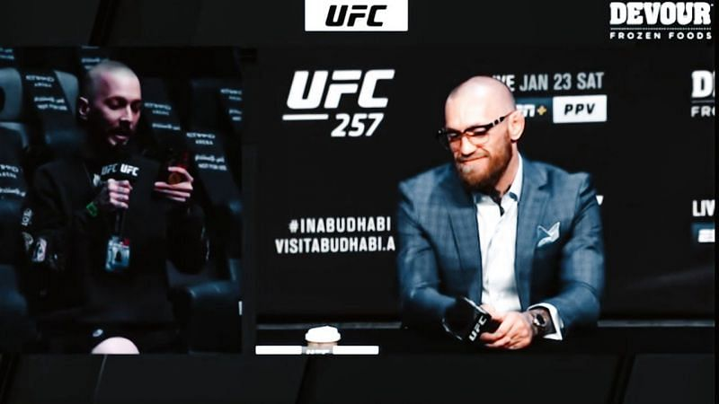 Conot McGregor sheds a tear ahead of UFC 257