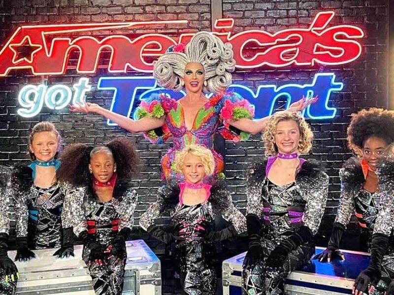 Alyssa Edwards with her Beyond Belief Dance Group that auditioned for America's Got Talent