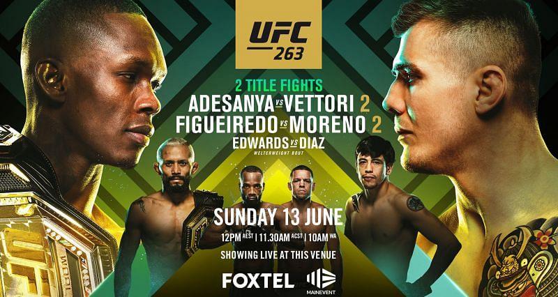 UFC 263: Official poster