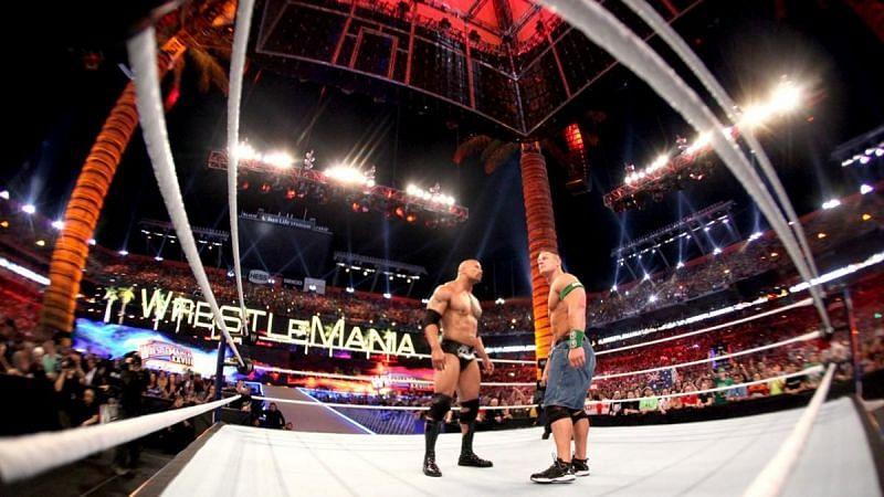The Rock and John Cena in WWE