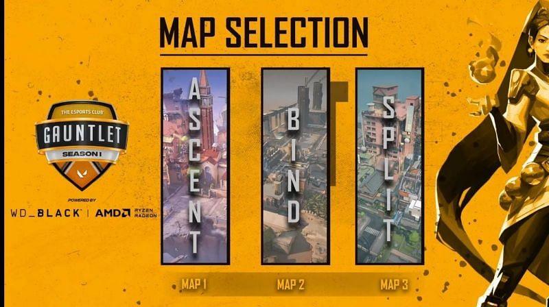 Team ALC vs T69 Selected Maps (Image via YouTube/The Esports Club)