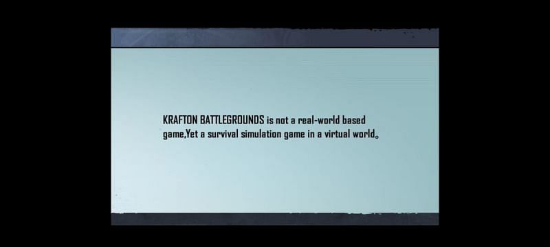 The message is displayed when players start the game.