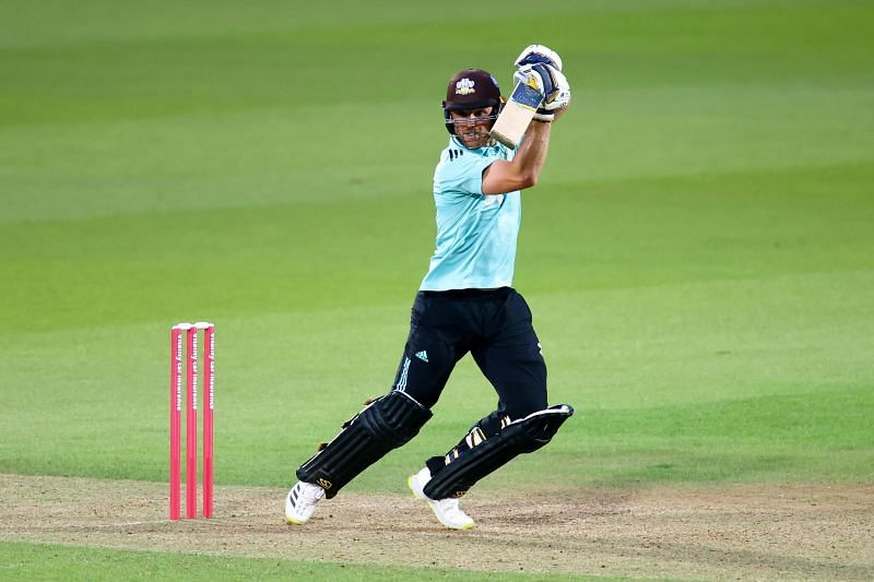 Laurie Evans in action for Surrey in the 2021 T20 Blast