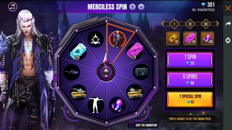 The Merciless Spin in Free Fire