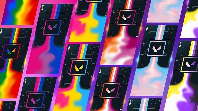 The Pride Player Cards in Valorant (Image via Riot)