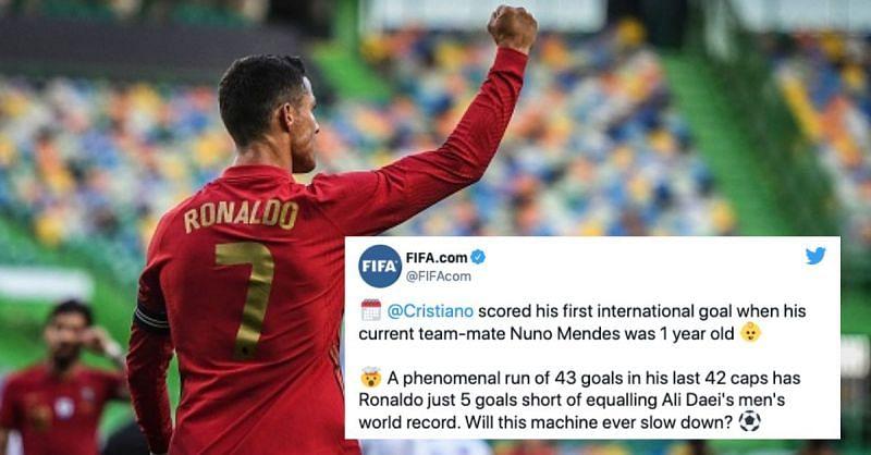 Cristiano Ronaldo scored once again for Portugal
