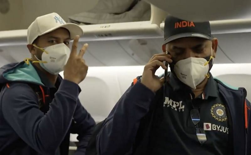 Team India landed in England