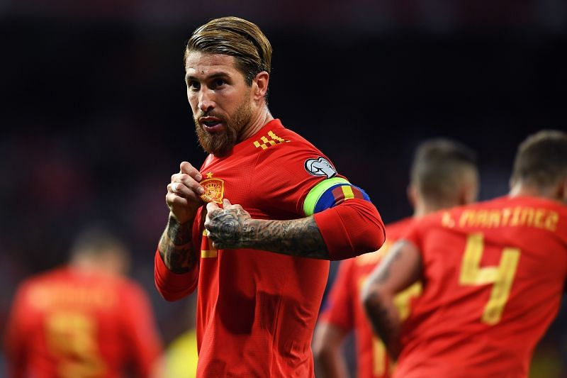 Sergio Ramos scored for Spain against Sweden in Euro 2020 qualification