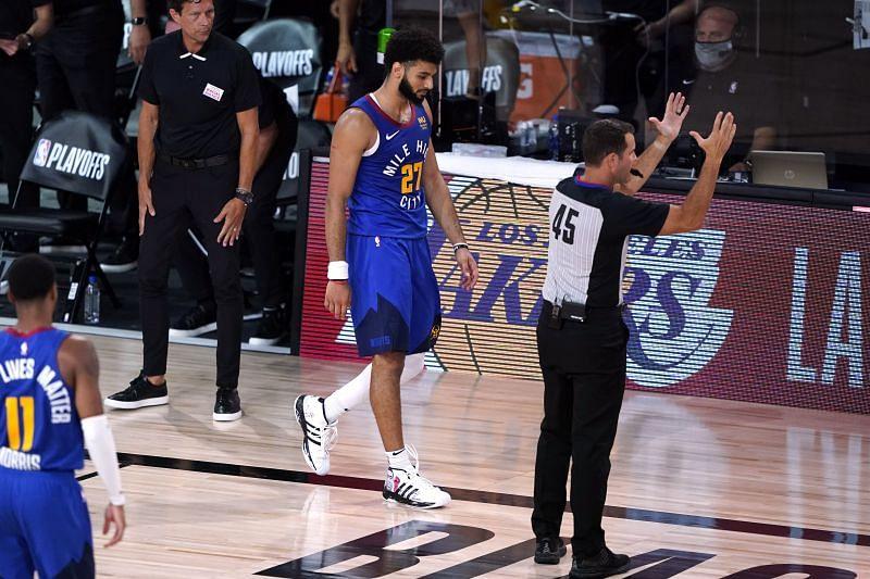 Jamal Murray of the Denver Nuggets against the Utah Jazz