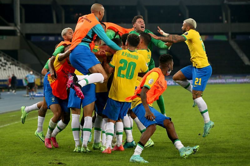 Brazil finished top of their group