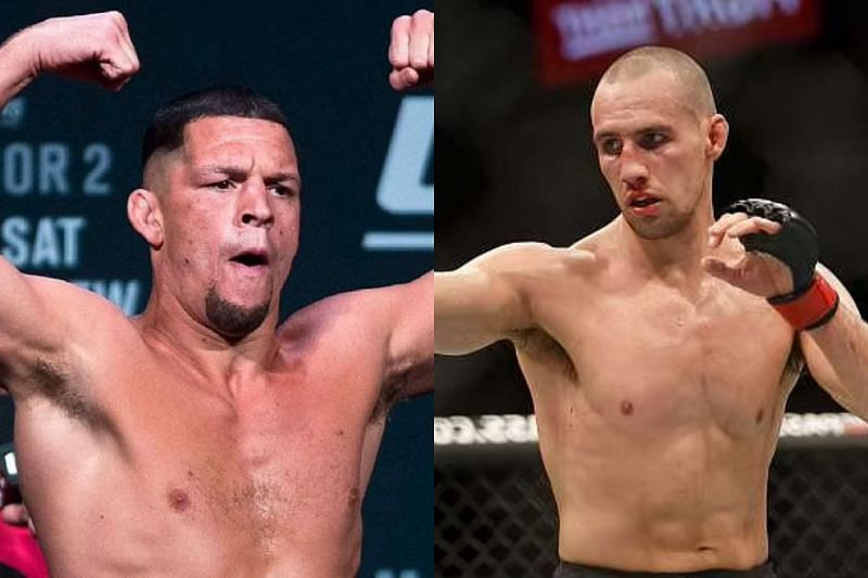 Nate Diaz (left) and Rory Macdonald (right)