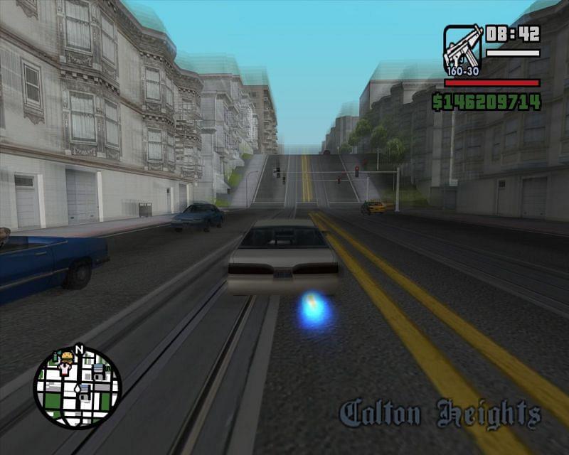 A vehicle using nitro in GTA San Andreas (Image via GTA Wiki)