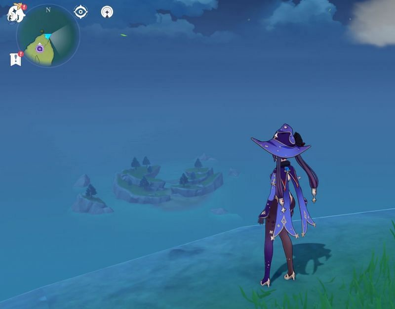 Players can glide to the island (Image via Sportskeeda)