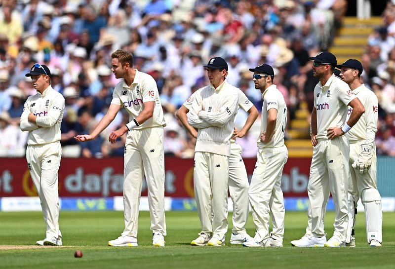Stuart Broad was visibly upset after Devon Conway was given not out on Day 2.