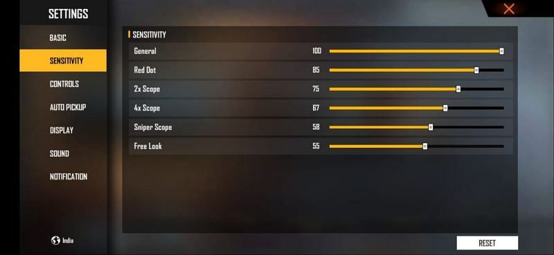 The best sensitivity settings in Free Fire for quicker movements and accurate headshots