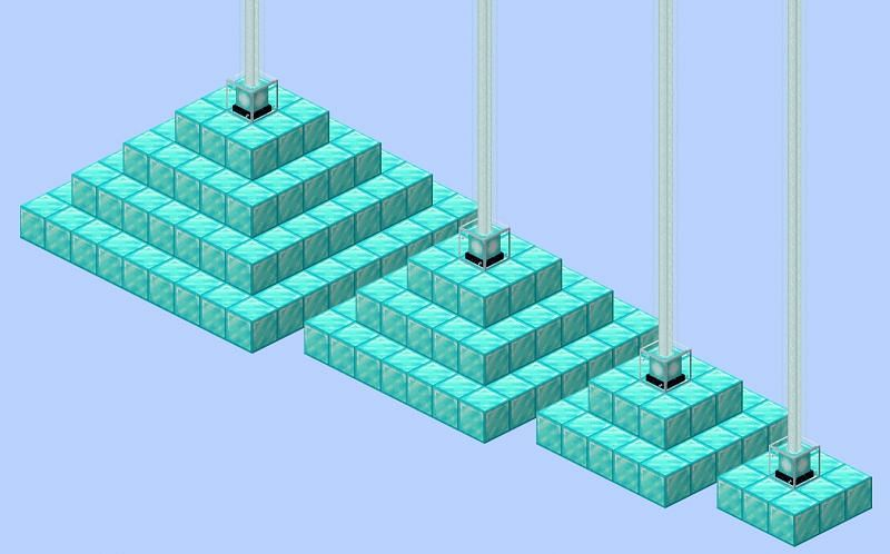 Beacons (Image via Minecraft Wiki)