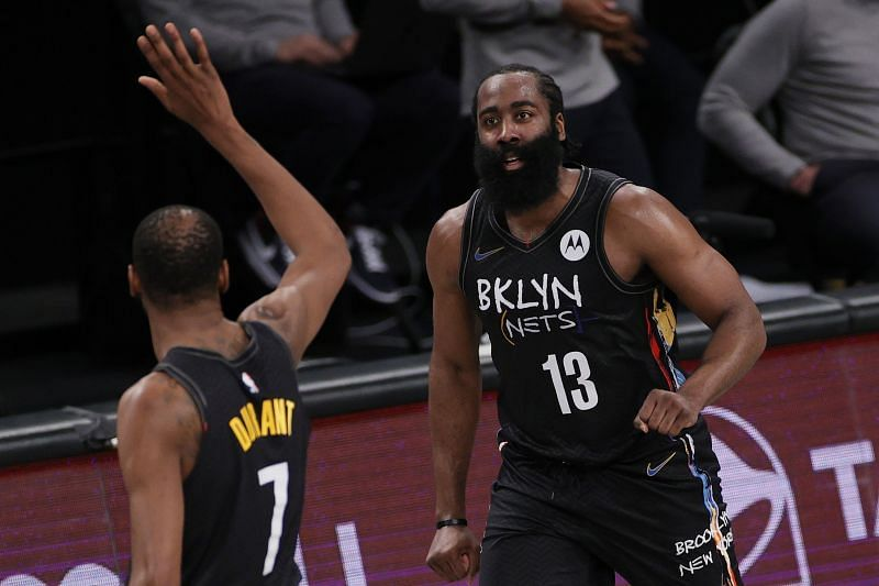 Brooklyn Nets stars James Harden and Kevin Durant