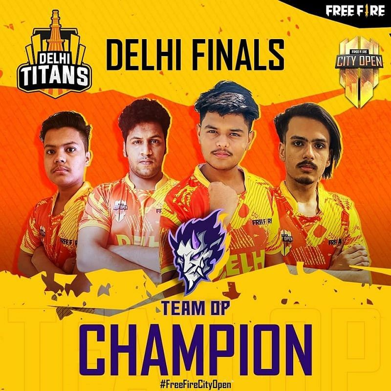Team Op crowned Free Fire City Open Delhi finals champions