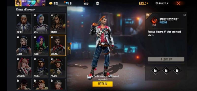 Antonio is a great choice for the Clash Squad mode in Free Fire
