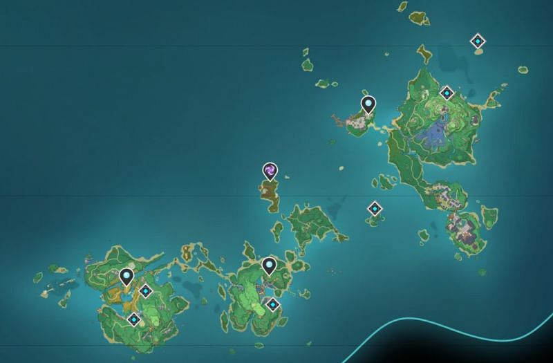 Inazuma on the interactive map (image via appsample)