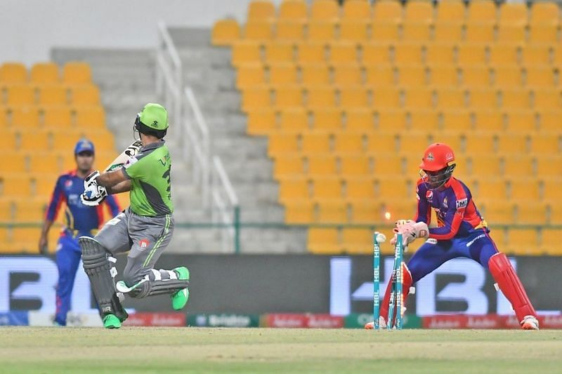Karachi Kings defeated Lahore Qalandars by seven runs in their previous game (Image credits: PSL/Twitter)