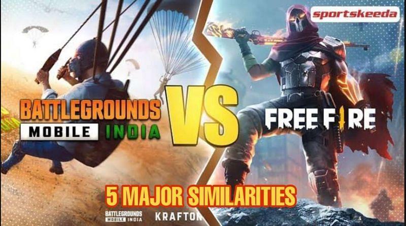 BGMI vs Garena Free Fire 5समानताएं