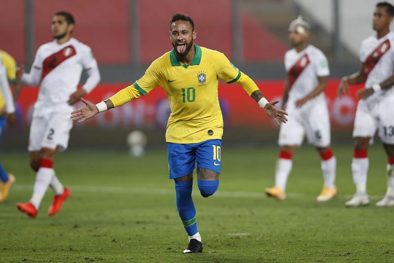 Brazilian star Neymar. (Photo by Paolo Aguilar-Pool/Getty Images)