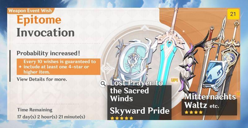 Simulated Genshin Impact banner with wish count (image via Uzair Ashraf)