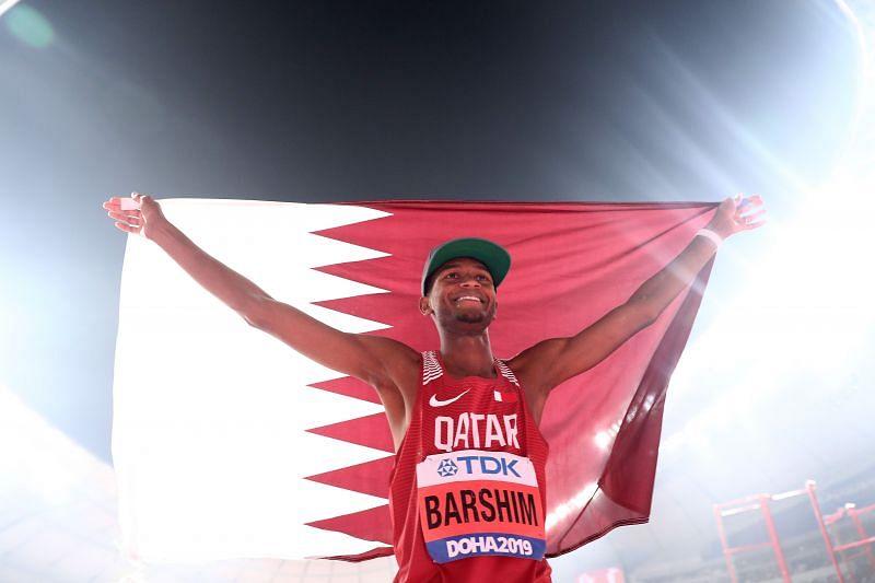 Qatar's Mutaz Essa Barshim will be in action at the 2021 Golden Gala Diamond League