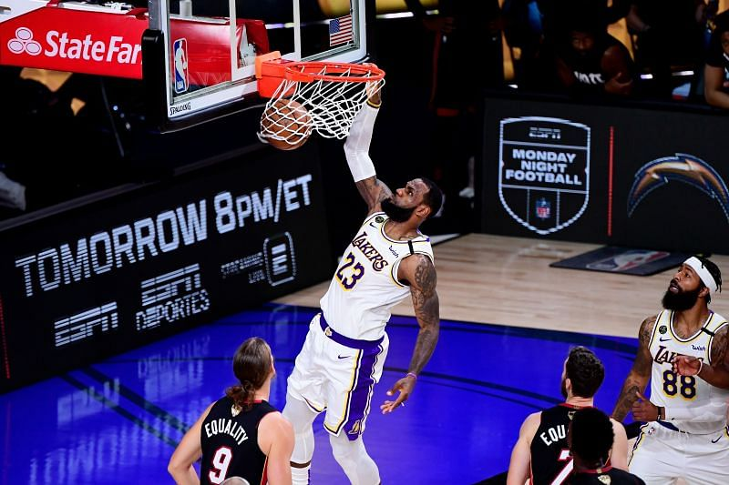James during the 2020 NBA Finals.