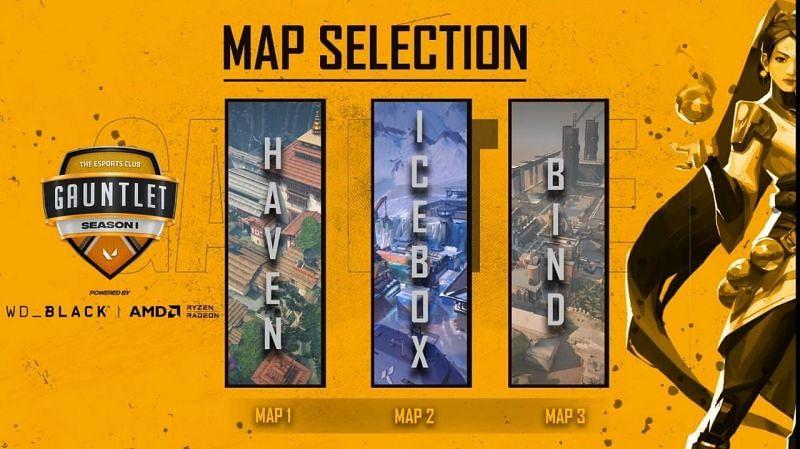 Samurai Esports vs Team Sonic Selected Maps (Image via YouTube/The Esports Club)