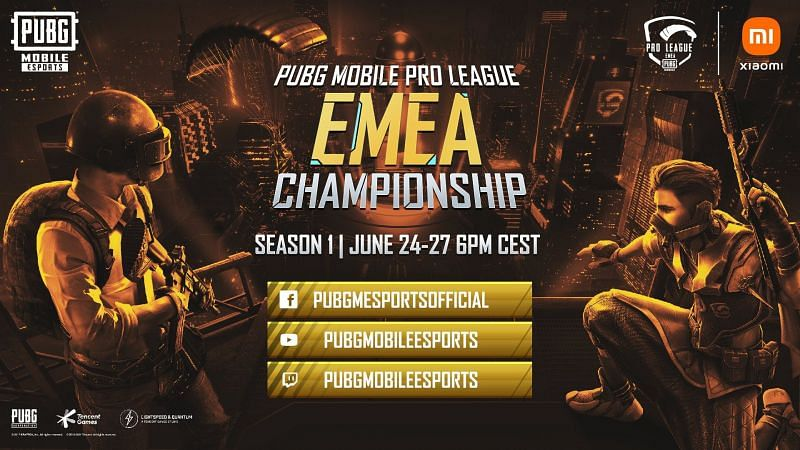 PUBG Mobile Pro League EMEA championship 2021 season 1