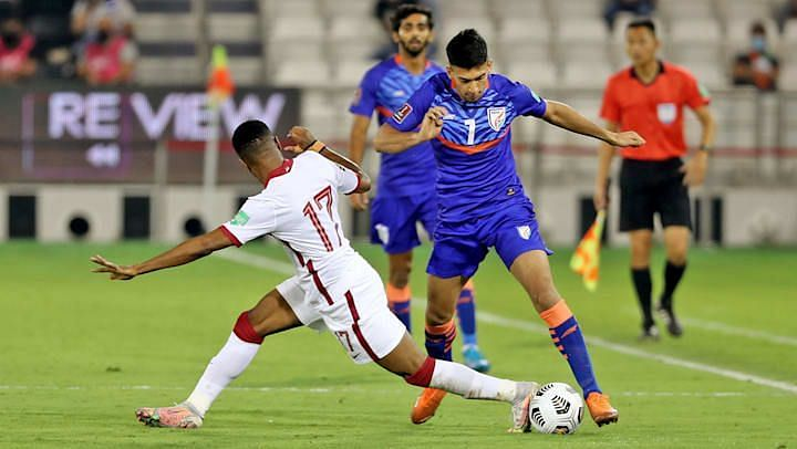 Indian football team lost 0-1 to Qatar in the previous fixture. (Image: AFC)