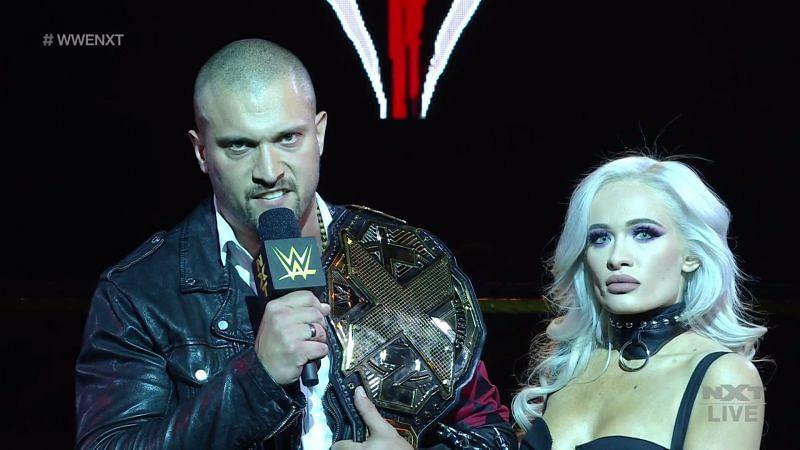 Karrion Kross (w/Scarlett) is a two-time NXT Champion