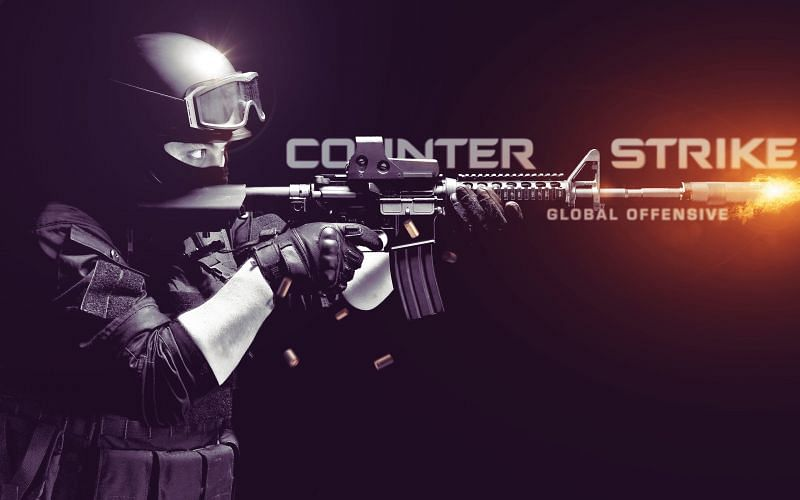 CS is all about guns and headshots (Image via Wallpaperaccess)