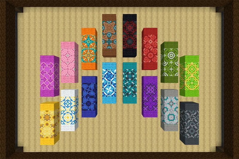 Terracotta is a colorful block available in a variety of colors (Image via Minecraft Wiki)