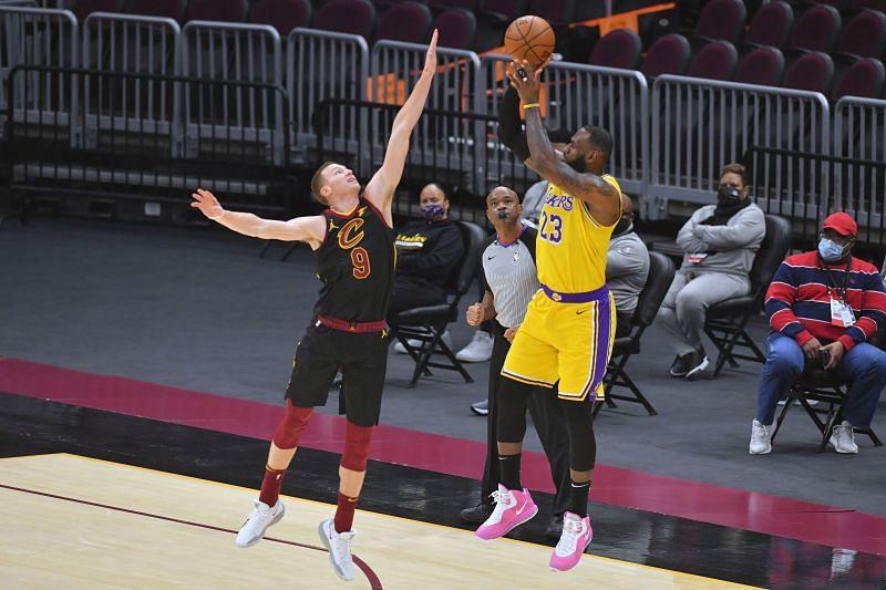 LA Lakers against the Cleveland Cavaliers