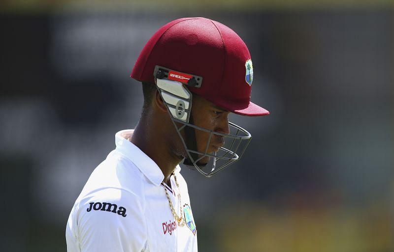 पहली पारी में वेस्टइंडीज केवल 97 रनों पर सिमट गई