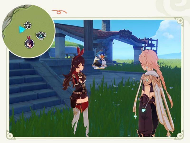 Amber's icon on the Serenitea Pot map (image via miHoYo)