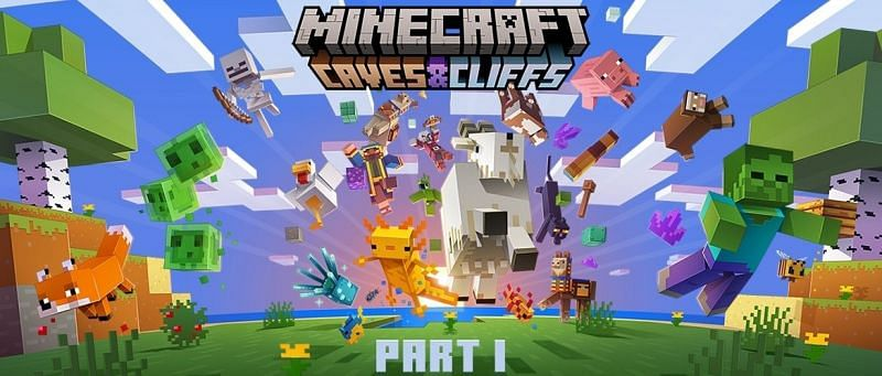 The official artwork for the first part of the Minecraft Caves & Cliffs update (Image via Mojang)