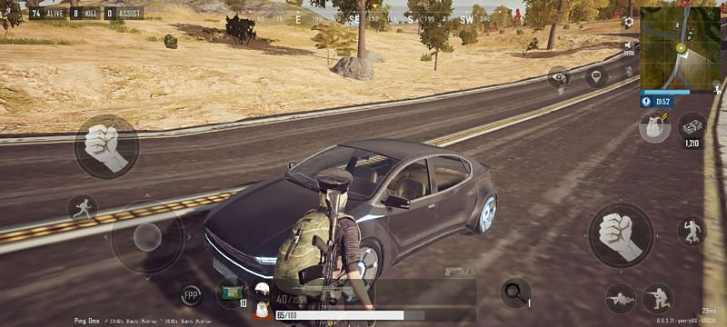 The game features electric vehicles (Image via PUBG New State)