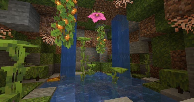 lush tree in new minecraft caves and cliffs update part of speech